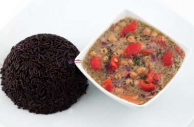 Thai Green Chickpea Curry with Black Rice