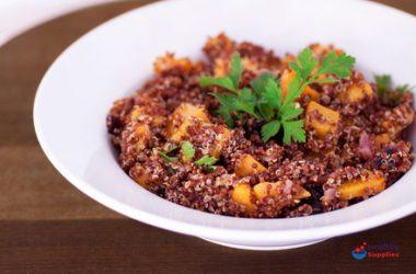 Warm Salad of Red Quinoa & Butternut Squash
