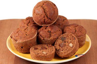 Banana, Date & Walnut Breakfast Muffins