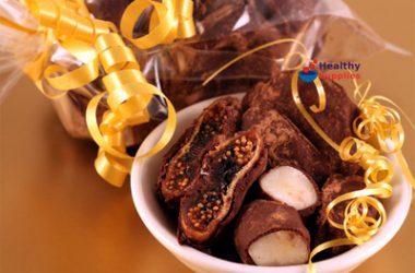 Chocolate Covered Marzipan Stars