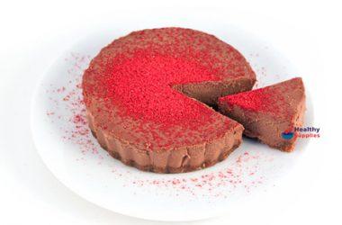 Chocolate & Raspberry Dairy-Free Cheesecake