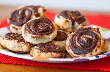Chocolate And Hazelnut Pinwheels