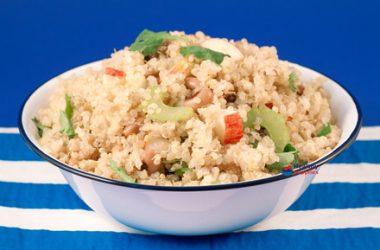 Sprouted Quinoa Summer Salad