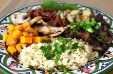 Roasted Veg and Bean Millet Salad