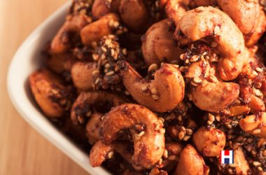 Sweet Smoked Cashew Nibbles