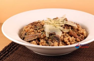 Pearled Spelt and Mushroom Risotto
