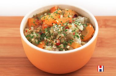 Spicy Pearl Barley and Lentil Soup