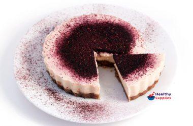 Vanilla & Blueberry Dairy Free Cheesecake
