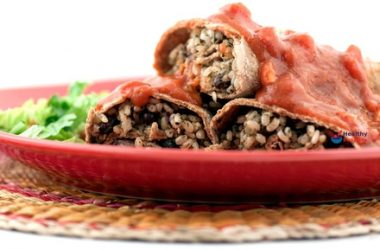 Vegetarian Burritos with Mexican Hot Sauce