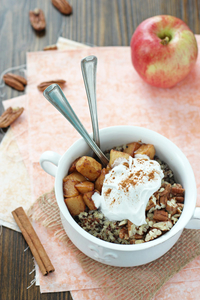 Apple, cinnamon and quinoa breakfast bowl (via cookiemonstercooking ...