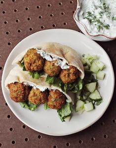 Homemade Falafel with cucumber dressing (via abeautifulmess.com)