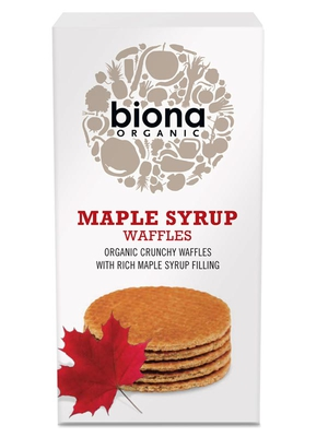 Maple Syrup Waffles, Organic 175g (Biona) - HealthySupplies.co.uk. Buy ...