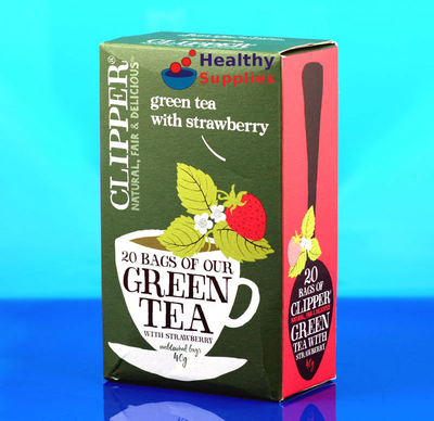 clipper green tea with strawberry 20 bags. Black Bedroom Furniture Sets. Home Design Ideas