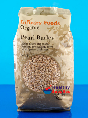 Pearl barley organic 500g infinity foods healthysupplies co uk
