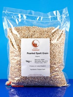 organic pearled spelt 1kg sussex wholefoods
