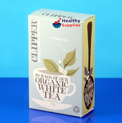 organic white tea 26 bags clipper. Black Bedroom Furniture Sets. Home Design Ideas