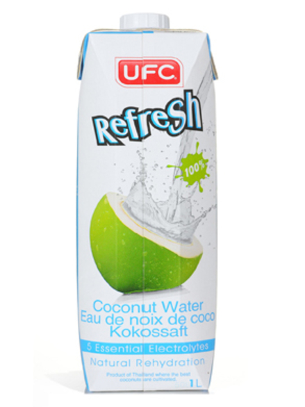 Refresh 100% Coconut Water 1 Litre (UFC) - HealthySupplies ...