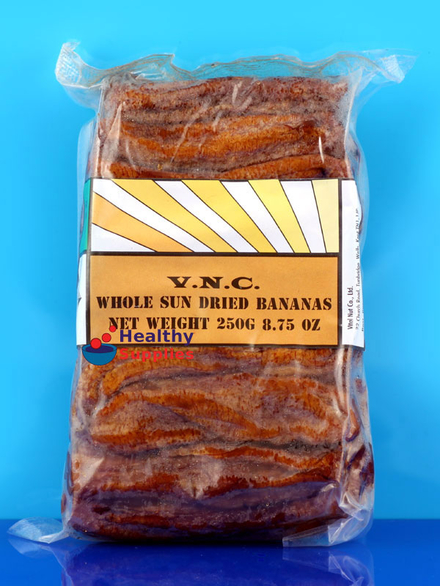 Dried Bananas Soft Pure 250g Vnc Healthysupplies Co