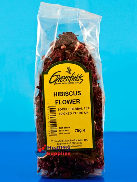 Hibiscus Flower Petals 100g Greenfields Healthysuppliescouk