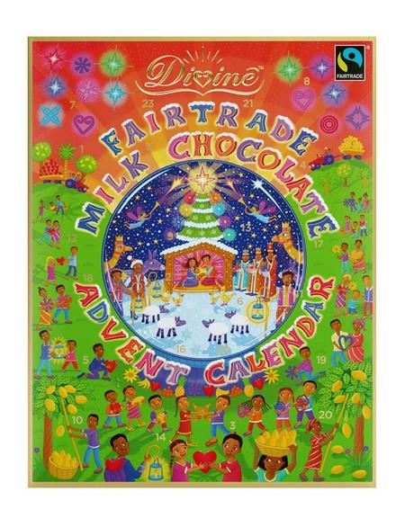 Milk chocolate advent calendar 85g divine chocolate for Make your own chocolate advent calendar