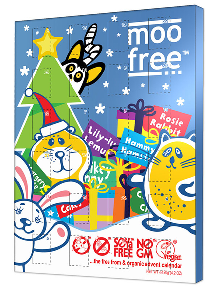 Dairy free chocolate advent calendar organic 120g moo Advent calendar non chocolate