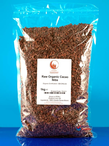 Organic Raw Cacao Nibs(1kg) - Sussex Wholefoods