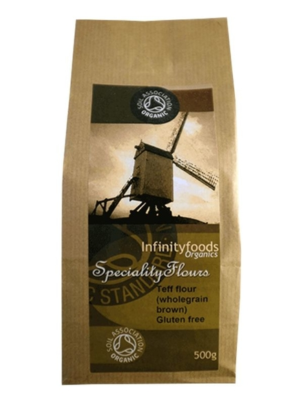 Wholegrain Brown Teff Flour, Organic 500g (Infinity Foods