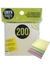 Self Adhesive Notes, 200 pieces (Onyx and Green)