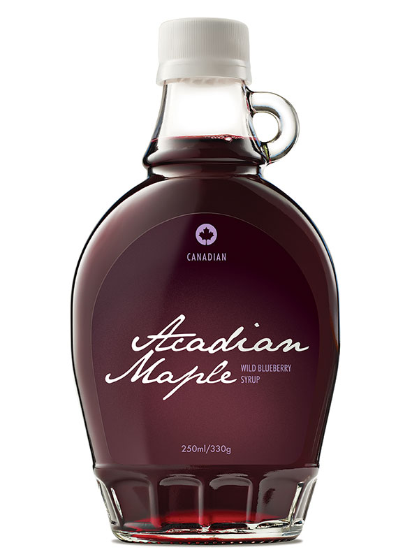 Wild Blueberry Syrup, Organic 250ml (Acadian Maple) - HealthySupplies ...