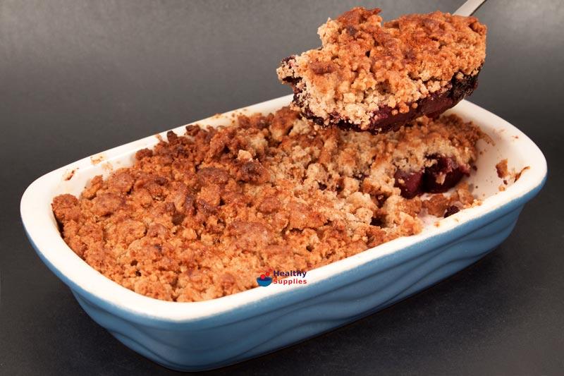 Apple & Blackberry Crumble - Recipe - HealthySupplies.co.uk. Buy ...