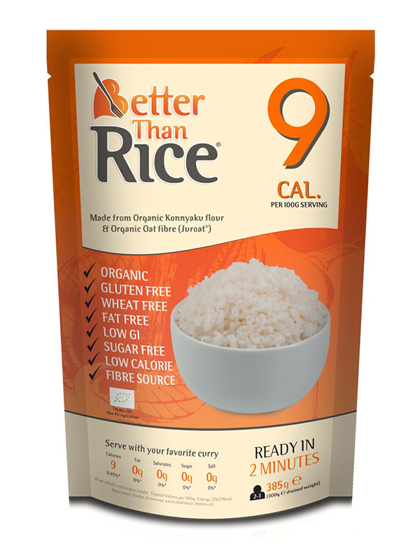 Low Calorie Rice Organic 385g Better Than