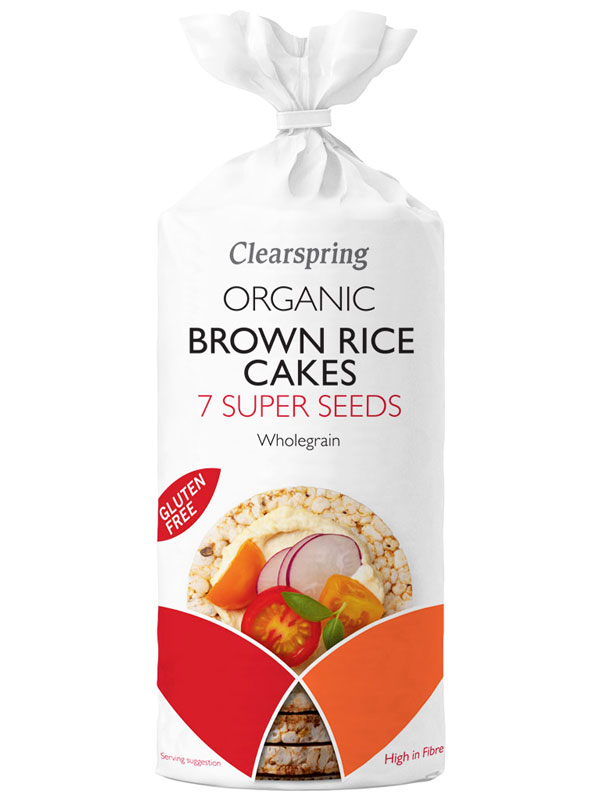 Brown Rice Cakes With 7 Super Seeds Organic 120g