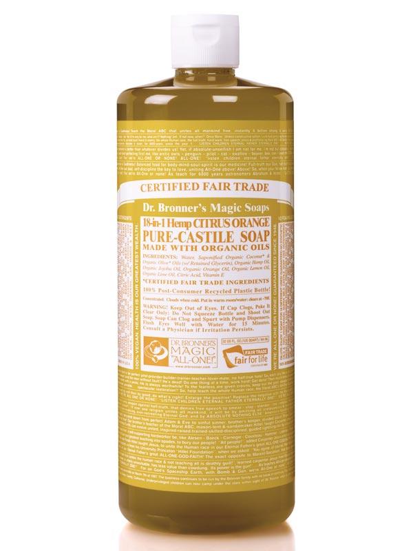 18 in 1 hemp citrus pure castile soap 946ml dr bronner 39 s buy online. Black Bedroom Furniture Sets. Home Design Ideas