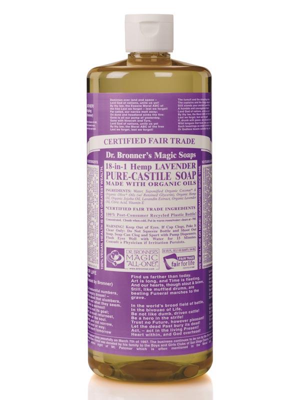 18 in 1 hemp lavender castile soap 946ml dr bronner 39 s buy online. Black Bedroom Furniture Sets. Home Design Ideas