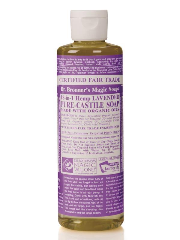 18 in 1 hemp lavender castile soap 236ml dr bronner 39 s buy online. Black Bedroom Furniture Sets. Home Design Ideas