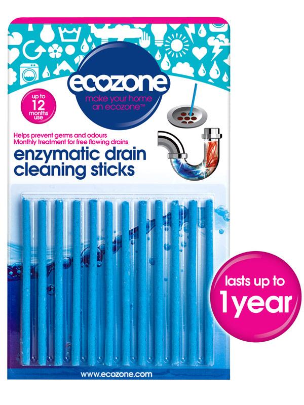 Enzymatic Drain Cleaning Sticks 12 Pack Ecozone