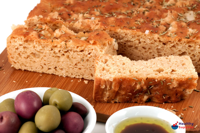Gluten-free Foccacia - Recipe - HealthySupplies.co.uk. Buy Online.