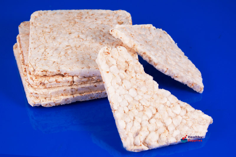 Unsalted Thin Square Rice Cakes 130g Kallo
