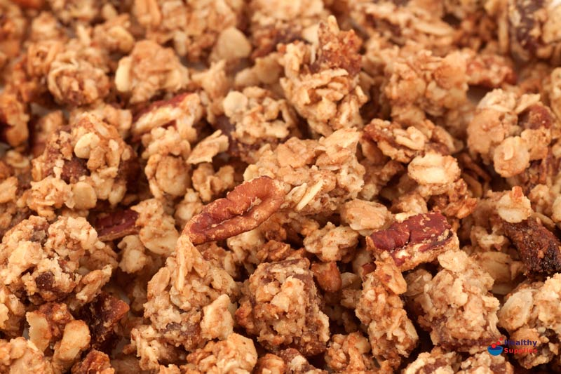 Maple Pecan Granola - HealthySupplies.co.uk. Buy Online.