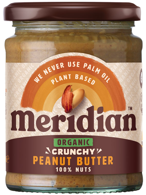 Crunchy Peanut Butter, Organic 280g (Meridian) - HealthySupplies.co.uk. Buy  Online.