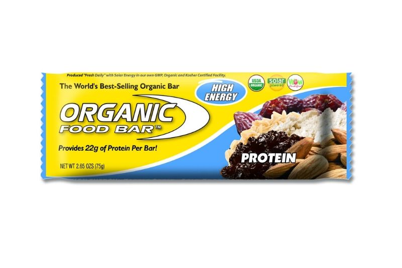 Protein bar organic food bar 70g for Organic food bar