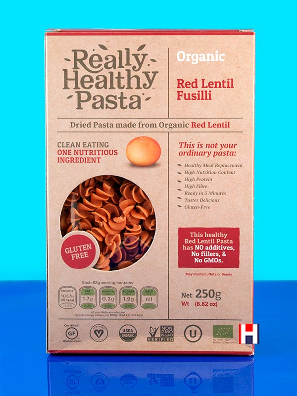 Red Lentil Fusilli Gluten Free 250g Really Healthy Pasta