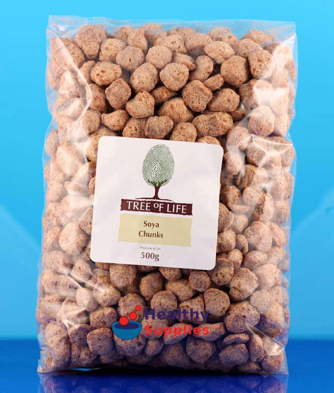 Soya Chunks 500g (Tree of Life) - HealthySupplies co uk  Buy Online