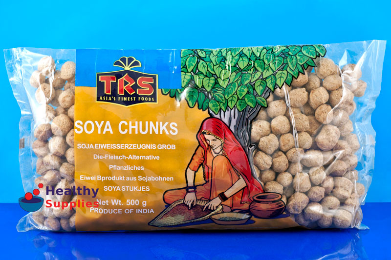 Soya Chunks Trs 500g - HealthySupplies co uk  Buy Online