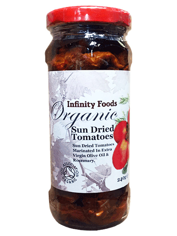 Sun Dried Tomatoes In Olive Oil Organic 240g Infinity Foods Healthysupplies Co Uk Buy Online