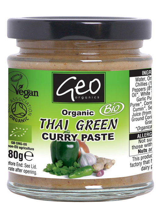 Thai Green Curry Paste, Organic 180g (Geo Organics ...