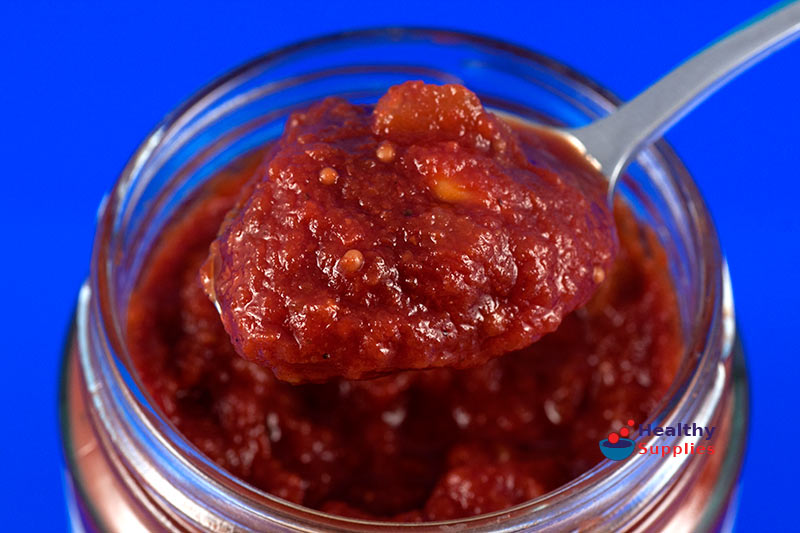 tomato relish once the relish is ready spicy tomato sauce spicy tomato ...