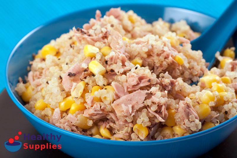 Tuna sweetcorn and quinoa salad recipe healthysupplies tuna sweetcorn and quinoa salad recipe healthysupplies buy online ccuart Choice Image