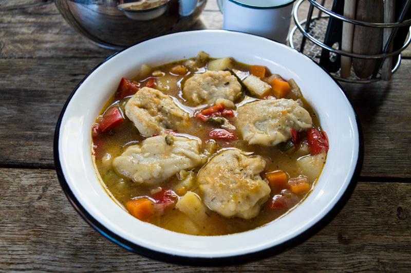 Vegan Stew with Herby Gluten-Free Dumplings